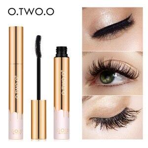 O.TW O.O máscara 3D alargamiento de pestañas negras extensión de pestañas cepillo de pestañas Color dorado maquillaje de belleza máscara de pestañas de larga duración