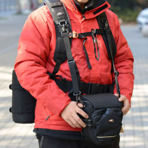 Image 4 - Camera DSLR Utility Belt Technical Harness Kit Photography Hanging Lens Pouch  Case Multifunctional Fixed Backpack Strap