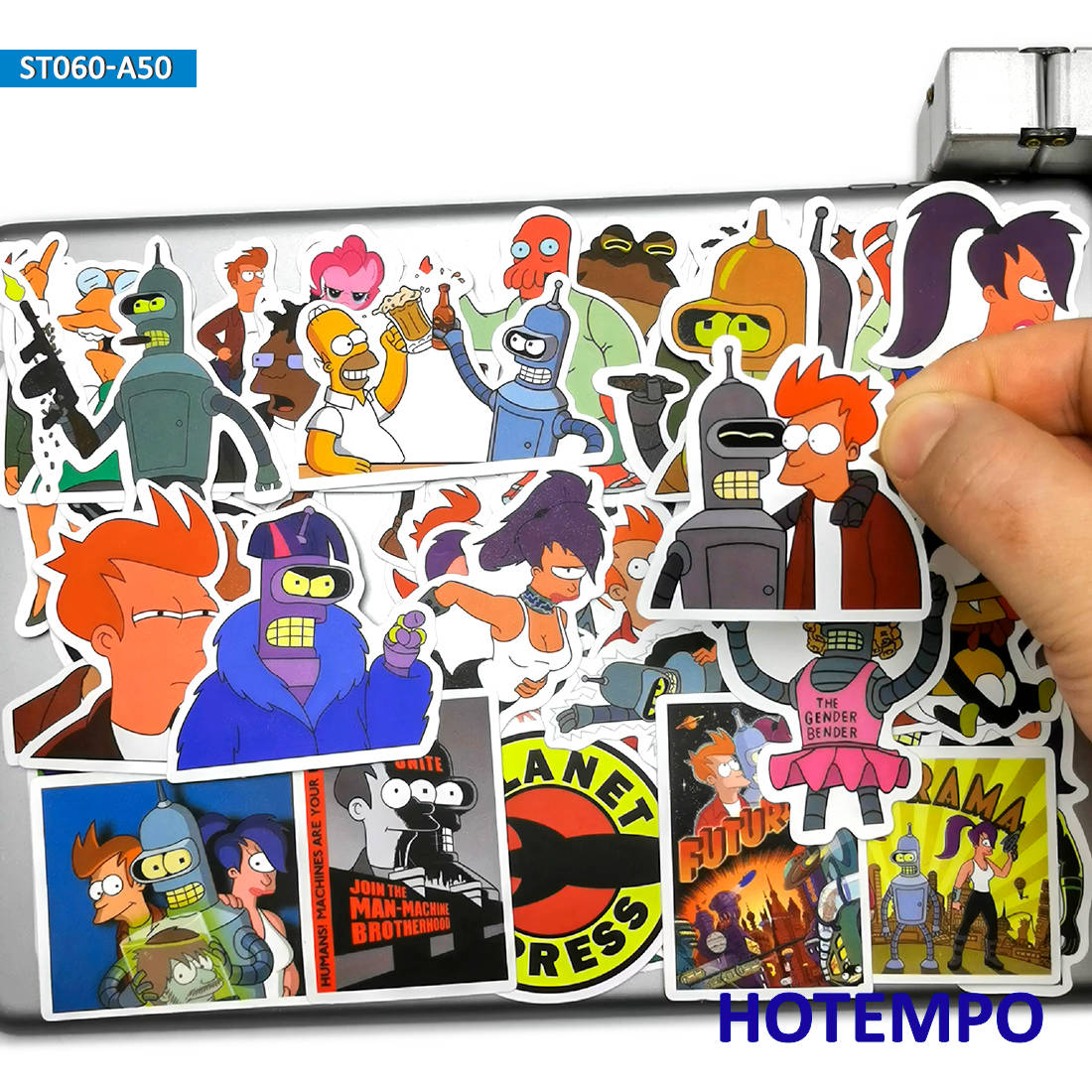 50pcs Anime Funny Style Future Courier Stickers Toys For Mobile Phone Laptop Luggage Suitcase Skateboard Cartoon Decal Stickers