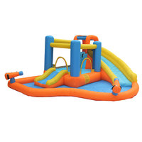Inflatable Child Bouncy Castle Combination Trampoline with Two Water Slide Two Water Gun and Bounce House Big Water Pool