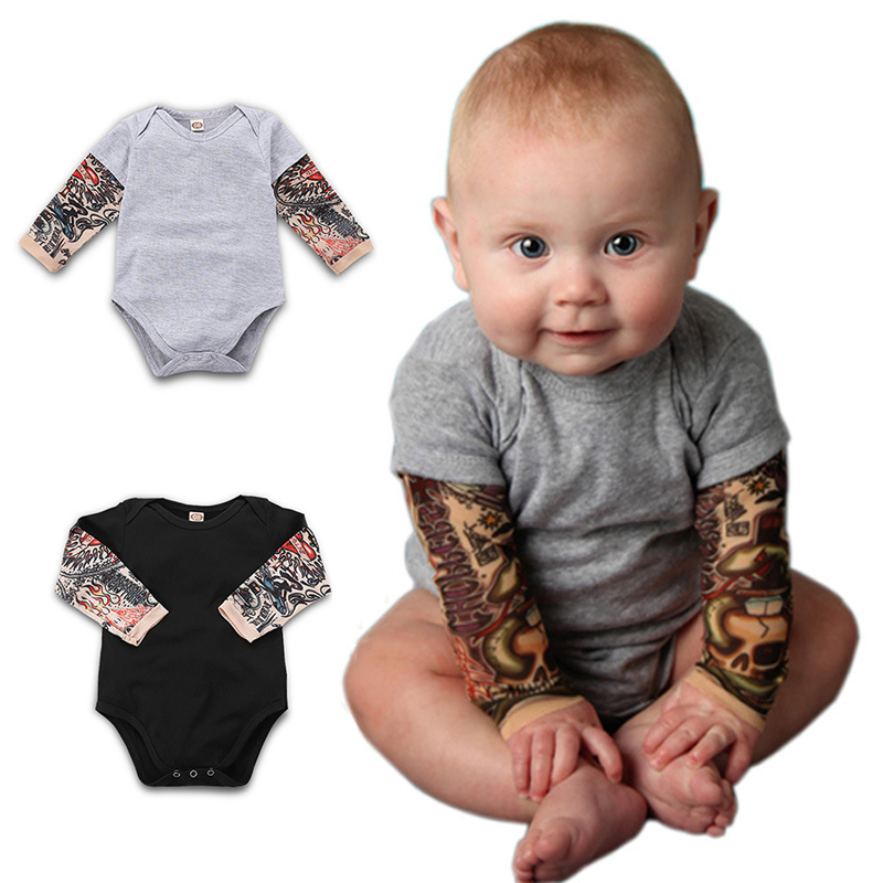 Newborn Baby Kids Boys Girls Romper Jumpsuit Bodysuit Hip-hop Palysuit Outfits