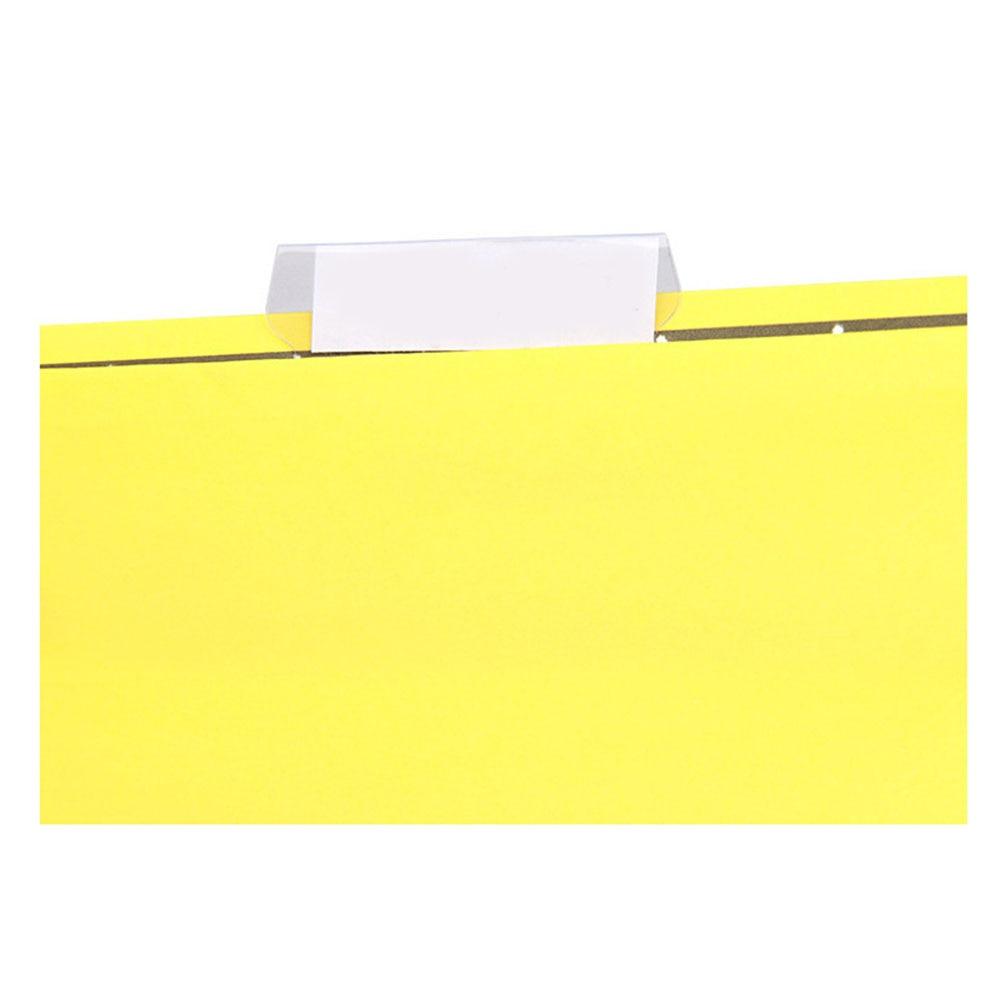 100pcs PVC File Index Professional Transparent Smooth Film Convenient Bendable Crafts Office Durable Label Hanging
