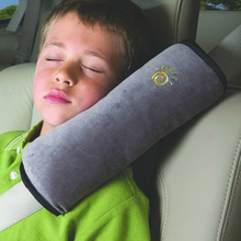 Almofada infantil de sinto de segurança, suporte automotivo para ombro, travesseiro de proteção para crianças com correia