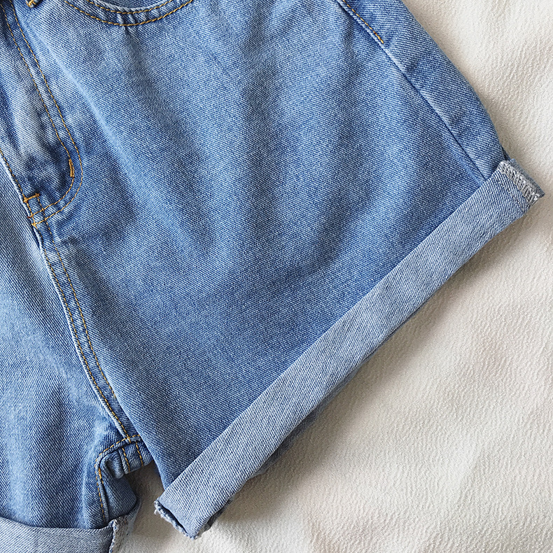 H9ef529a5f2c24324b5a9333d23cb8ac3D - Women Summer Shorts Fashion Free Belt High Waist Loose Casual Slim Denim Shorts Women Shorts Jeans mujer femme Korea Shorts