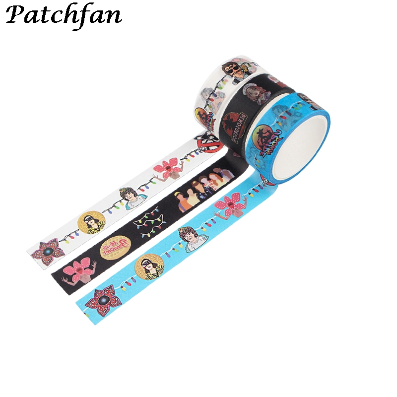 A4056 Patchfan Washi Tape Paper DIY Stranger Thing Masking Tape Adhesive Tapes Stickers Decorative Stationery Tapes