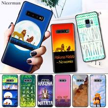 Hakuna Matata Lion King Phone Case Cover Coque for Samsung Galaxy S8 S9 S10 S10e 5G Note 8 9 10 5G Plus S7 S7 Edge S8+ S9+ S10+ цены онлайн