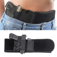Funda de pistola de vientre táctico, bolsa de cinturón Invisible, cinturón oculto, faja elástica, funda de pistola para Glock 17 19, revistas de caza