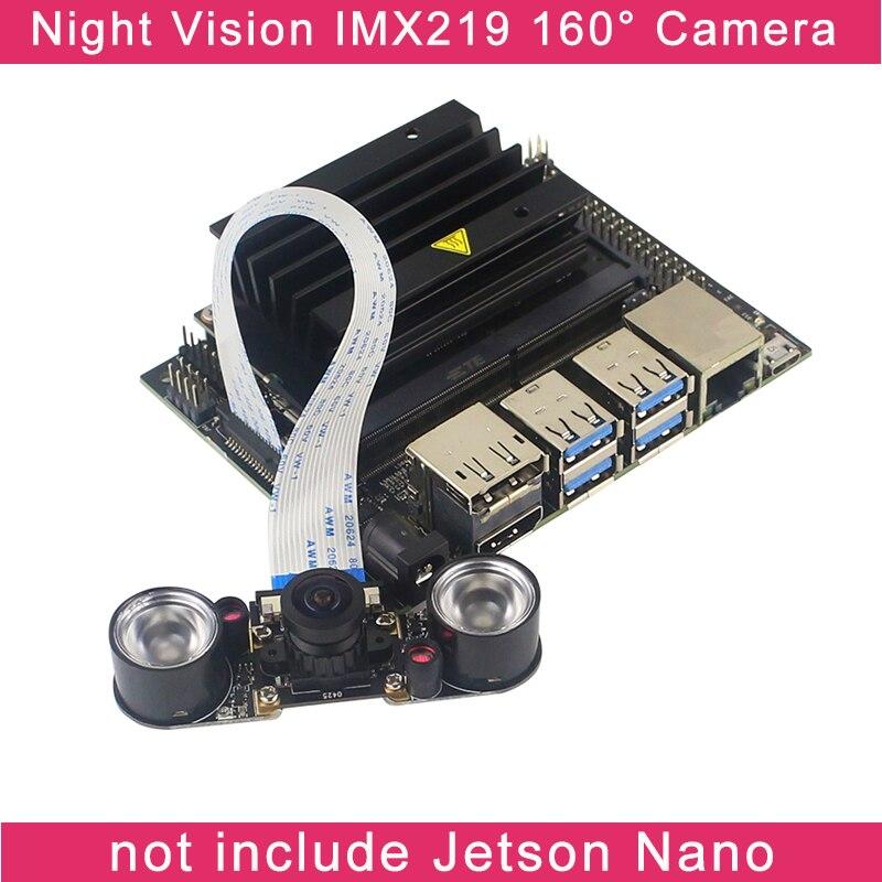 8MP Nvidia Jetson Nano Camera Night Vision IMX 219 160 Degree Camera IP Webcam For Jetson Nano + 2 Infrared Lights + 15cm FFC