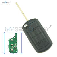 Flip remote car key 434 mhz for Landrover LR3 Range Rover HU101 3 button ID46 chip on circuit board remtekey