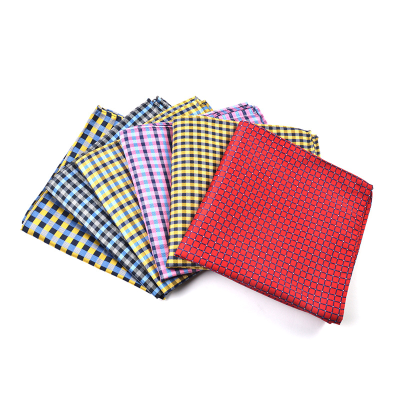 [] New Style Men Pocket Square Fashion Jacquard Polyester Scarf Multi-Choice