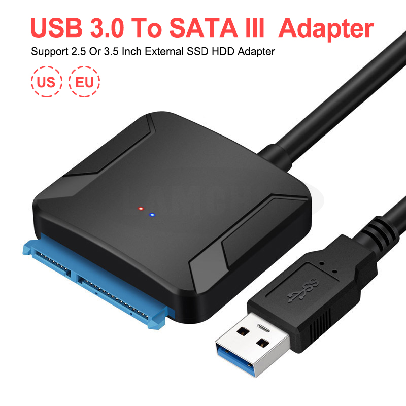 USB 3.0 To Sata Adapter Sata To USB Cable Convert Cable Support All 2.5 Or 3.5 Sata HDD SSD Adapter Hard Drive USB 3.0 With UASP