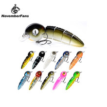 152mm 42.6g Sinking Multi Jointed Fishing Lures Floating 40g Tadpole Durable Fiber Link Swimbait Fishing Tackle Bait Wobblers