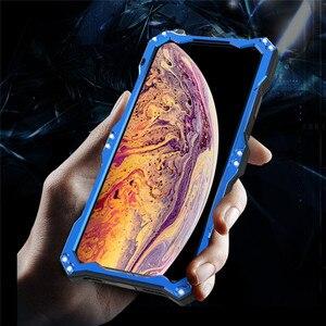 Image 5 - Funda protectora de doble capa para teléfono iPhone, carcasa de aleación de aluminio y Metal para teléfono iPhone XS Max XR X 6 6S 7 8 Plus 5 5S 5C SE