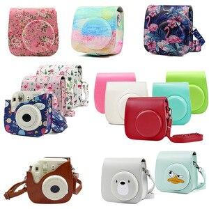 Image 2 - Mini aparat fotograficzny skórzany do fujifilm instax mini 9 torba na aparat PU do Instax Mini 8 torba film natychmiastowy aparat fotograficzny case Mini 8 + aparaty fotograficzne