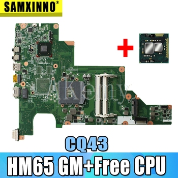 Free CPU 646177-001 CQ43 motherboard HM65 For HP CQ43 CQ57 430 431 435 630 635 Laptop Motherboard