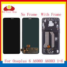 ORIGINAL For Oneplus 6 1+6 LCD Display Touch Screen Digitizer Assembly Complete With Frame One plus A6000 A6003 Replacement