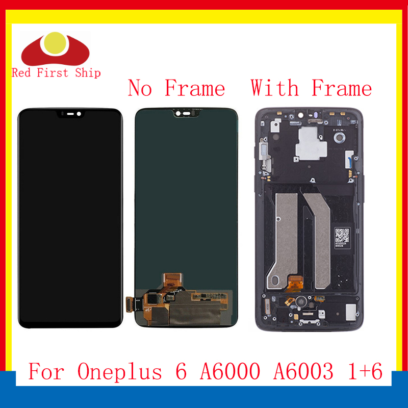 ORIGINAL For <font><b>Oneplus</b></font> 6 1+6 LCD Display Touch <font><b>Screen</b></font> Digitizer Assembly Complete With Frame One plus 6 <font><b>A6000</b></font> A6003 Replacement image