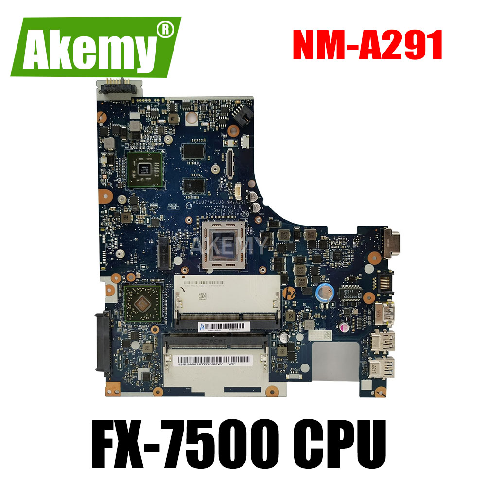 Tested ACLU7 ACLU8 NM-A291 mainboard For <font><b>Lenovo</b></font> Z50-75 <font><b>G50</b></font>-75 Laptop PC Motherboard FX-7500 CPU image