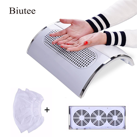 Biutee Powerful Nail Dust Suction Collector with 3 Fan Vacuum Cleaner Manicure Tools with 2 Dust Collecting Bags Pakistan