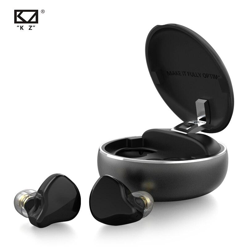 KZ T1 TWS Híbrido HIFI Baixo Fones De Ouvido Fones De Ouvido Bluetooth 5.0 Fones De Ouvido Sem Fio Esporte Fone de ouvido Com Cancelamento de Ruído Fones de Ouvido HD