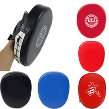 купить 1pcs Black Red Boxing Gloves Pads for Muay Thai Kick Boxing MMA Training Taekwondo PU foam boxer target Pad F дешево