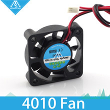1pcs 3d printer small cooling fan cooling extruder special small fan 2 wire 4010 12V 24V two kinds(China)