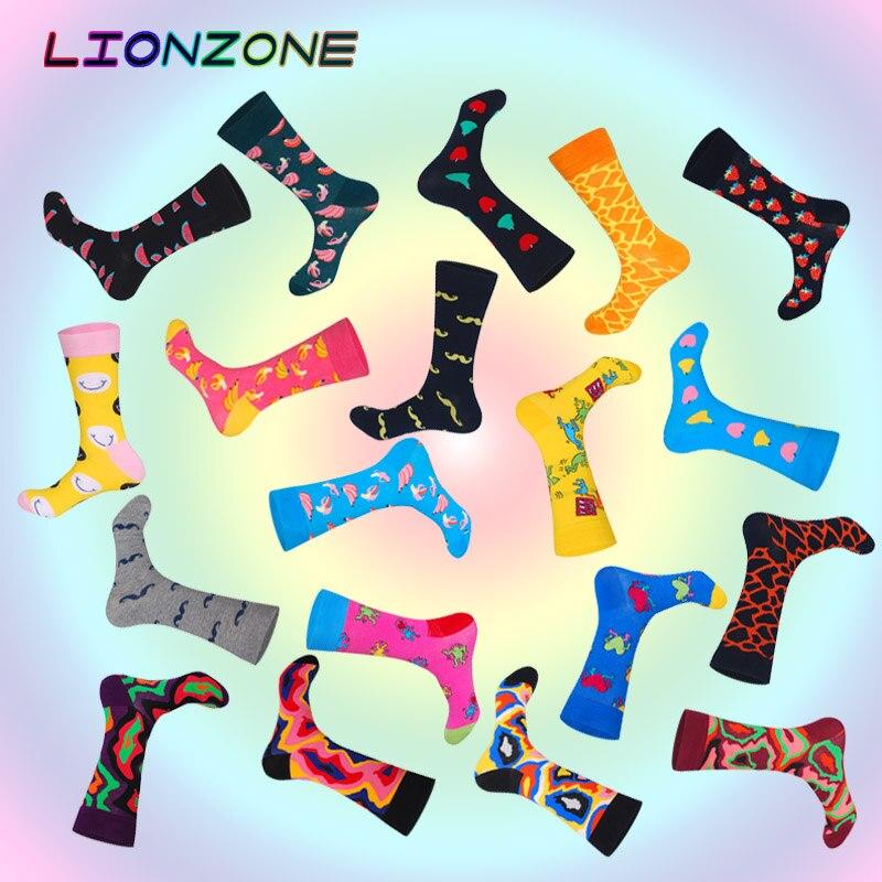 Brand Newly Neutral Socks Funny Men Women Fruits Lava Mustache Designer High Quality Combed Cotton Happys Socks Fashion Gay