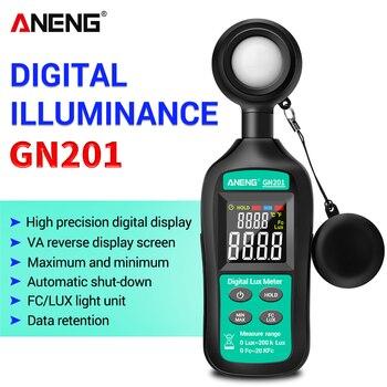 GN201 Luxmeter Digital Light Meter 200K Lux Photometer uv UV Radiometer Handheld Illuminometer - discount item  20% OFF Measurement & Analysis Instruments