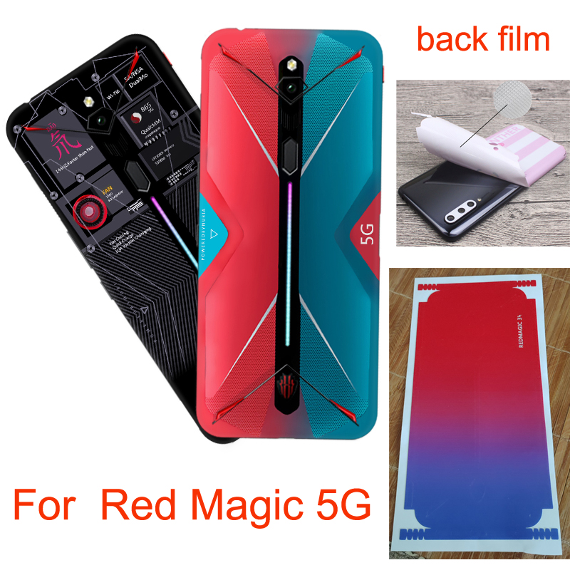 Color Fiber Back Film For Nubia Red Magic 5G NX659J Back Battery Case Protector RedMagic 5G Soft Protective Film