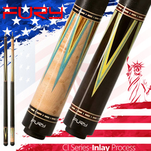 FURY CI Pool Cue 13mm Tiger Everest Tip Half Technology HTE Shaft High Quality Pointed Process Inlay Butt Technologia Billiard
