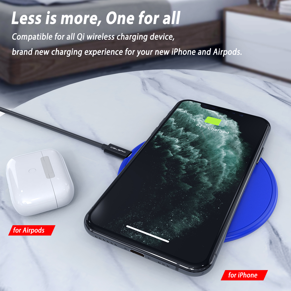 Image 3 - Wireless Phone Charger Mobile Phone Wireless Charge Pad QI Wireless Charger Compact MINI Chage pad for iPhone 11 Pro Max XiaomiWireless Chargers   -