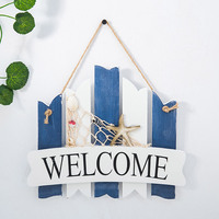 Mediterranean Retro Style Welcome Board Creative Decoration  Background wall hangings  for Restaurant Hotel