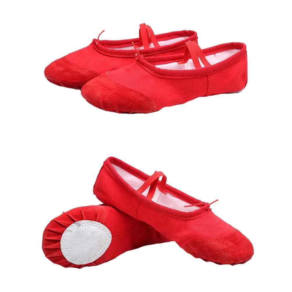 Yoga Gym flache hausschuhe Weiß Rosa Weiß Schwarz Leinwand Ballett Dance Schuhe Für Mädchen Kinder Frauen Lehrer