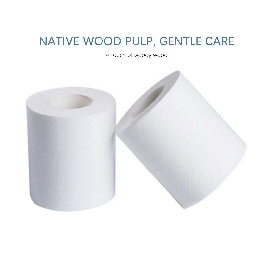 6 Rolls Premium Soft Embossed Toilet Paper Roll Paper Hollow Replacement Toilet Paper Home Kitchen Shop Hotel Cafe Paper