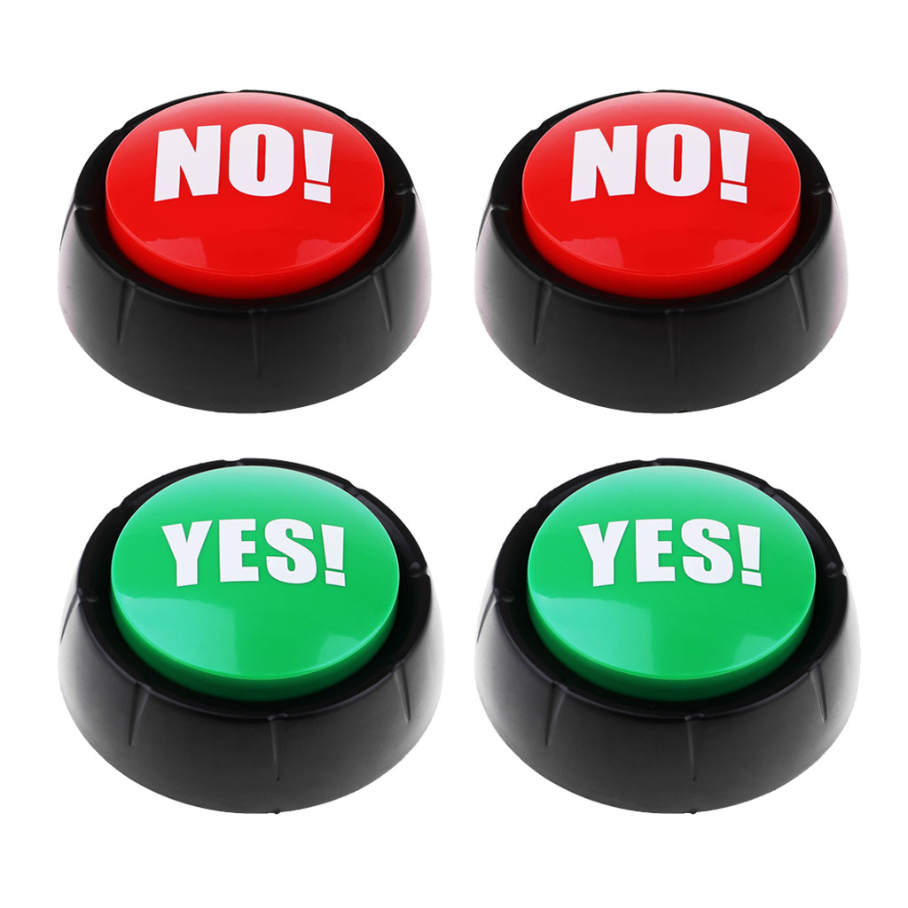 4 Pieces Learning Resource Dome Shaped Sound Buttons Game Show Answer Buzzer