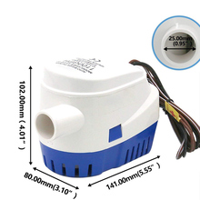 2020 NEW Automatic 12V 1100GBH Bilge Water Pump Submersible Pumps with Float Switch VS998