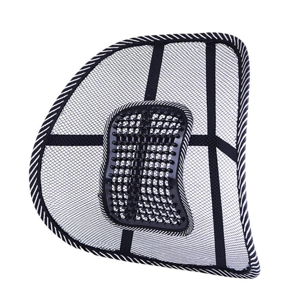 1pcs Universal Car Back Lumbar Support Mesh Massage Protection Home Cushion Cushion Chairs Accessories Waist Interior Offic H7K7