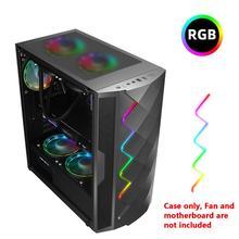 S SKYEE Электрический конкурс PC чехол закаленное стекло с RGB светильник видеокарты кронштейн ATX/MATX/ITX поддержка водяного охлаждения 8 вентиляторов