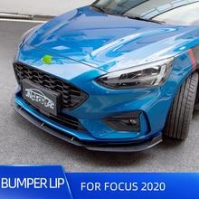 Car Front Bumper Splitter Lip Diffuser For Ford Focus ST 2019 2020 Spoiler Cover Trim 3pcs/set PP Plastic Coloured Lips