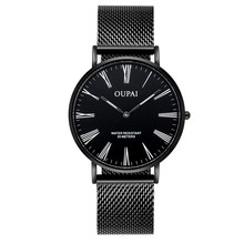 OUPAI Rome Character Ultrathin Simple and Casual Design Watch Man waterproof Sport lady watch Japanese Quiz Movement Luminous