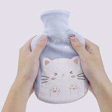 Симпатичная зимняя теплая бутылка для горячей воды с крышкой