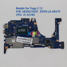 for Lenovo Yoga 2 13 FRU : 5B20G19207 ZIVY0 LA-A921P w i5-4210U CPU Laptop Motherboard Mainboard Tested(China)