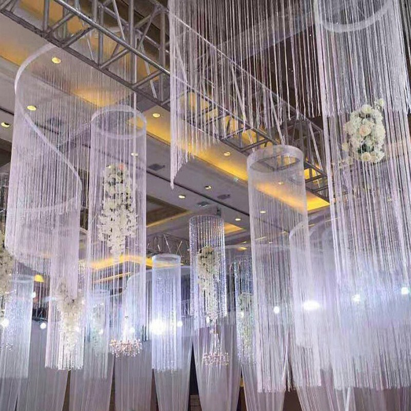 8 Colors 1x2m Shiny Tassel Flash Silver Line String Curtain Window Door Divider Sheer Curtain Valance Home Wedding Decoration