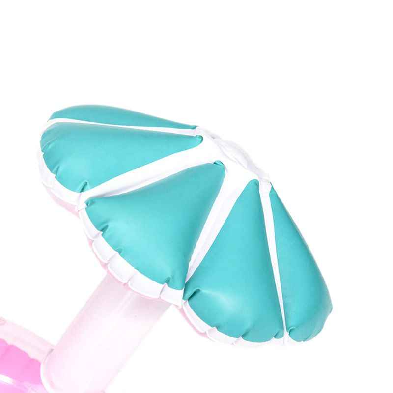 نفخ كوستر الفطر مقعد مظلة صغيرة حامل الكأس الحليب الشاي العائمة الأطفال المياه ألعاب للشاطئ 40JC