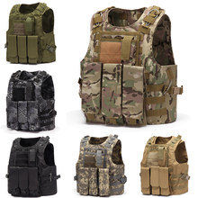 ZOHAN tactical airsoft vest military molle police plate carrier Combat Vest Police for Outdoor Hunting Vests accessories(China)