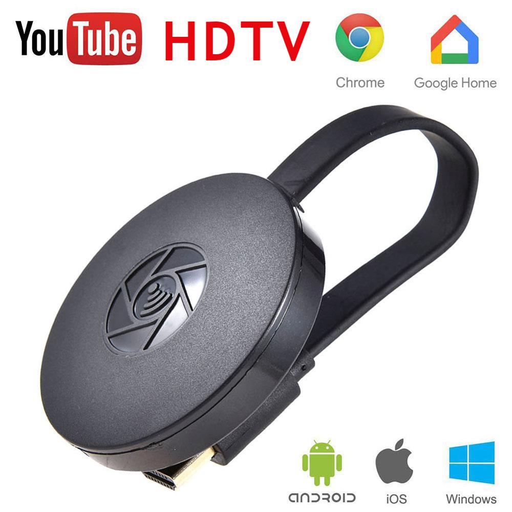 Nova alta qualidade hdmi receptor de exibição sem fio do telefone móvel dongle chromecast empurrador mídia digital fluxo vídeo hdtv