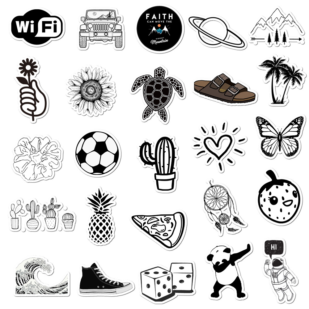 Pack Black And White Vsco Stickers