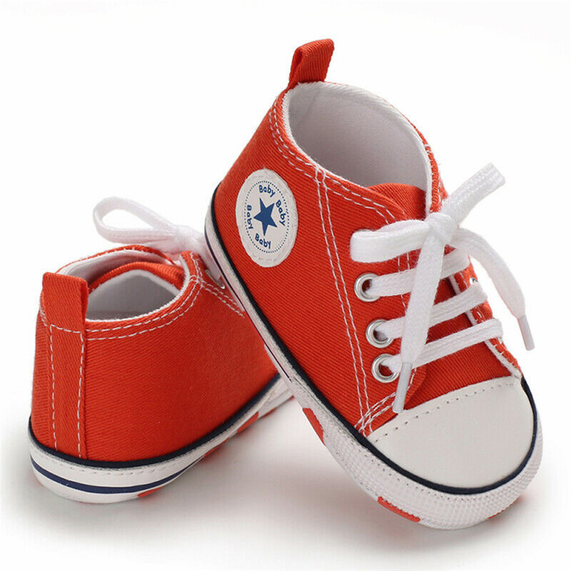 0-18M Newborn Baby Boy Girl Pram Anti-slip Soft Sole Crib Canvas Cotton Fabric Camouflage Shoes Sneakers Prewalkers