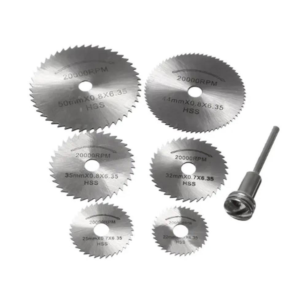 Mini HSS Circular Saw Blade Rotary Tool For Dremel Metal Cutter Power Tool Set Wood Cutting Discs Drill Mandrel Cutoff 22-60mm