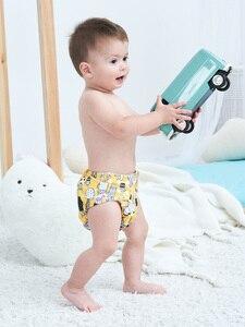 Image 3 - [Littles & Bloomz] 9 Stks/set Baby Wasbare Herbruikbare Echte Doek Pocket Luier, 9 Luiers/Luiers En 0 Microfiber Inserts In Een Set